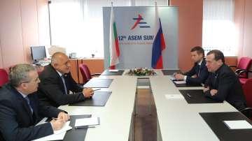 Борисов и Медведев обсъдиха енергийни теми в Брюксел