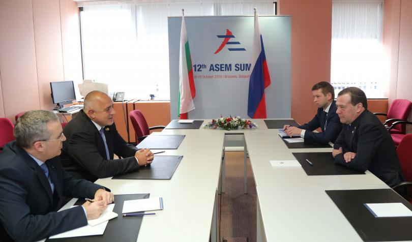 борисов медведев обсъдиха енергийни теми брюксел