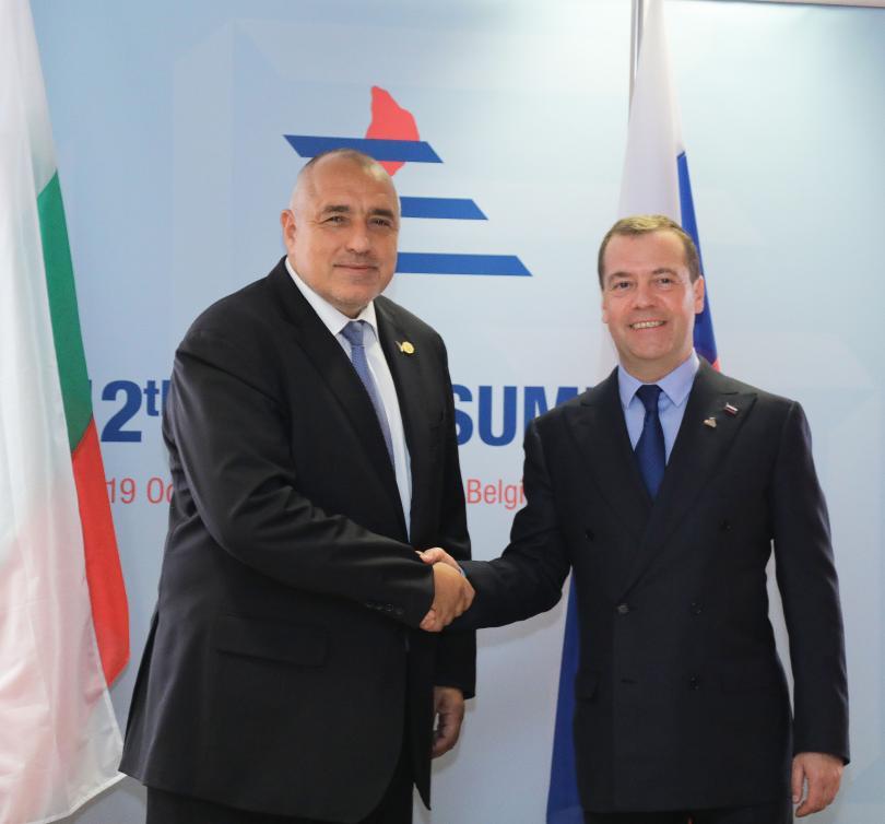 руският премиер медведев пристига двудневна визита българия