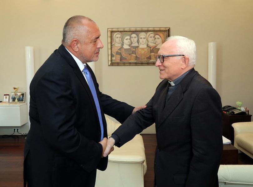 Министър-председателят Бойко Борисов се срещна с апостолическия нунций в България