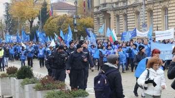 Протест на КТ Подкрепа против предложението за болничните