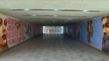 Подлез в Пловдив се превърна в галерия на открито