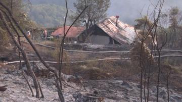 Четири къщи горяха при пожар в благоевградското село Бистрица