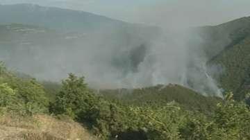 Разраства се пожарът край Стара Кресна