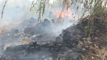 Сухи треви и храсти пламнаха край Ямбол
