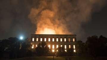 Пожар в Националния музей в Рио де Жанейро
