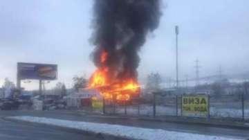 Пожар горя на Околовръстното шосе в София