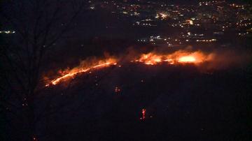 Втори пожар избухна край Благоевград, горят декари храсти и млади гори