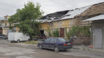 Пожар горя в складове на шуменската търговска борса