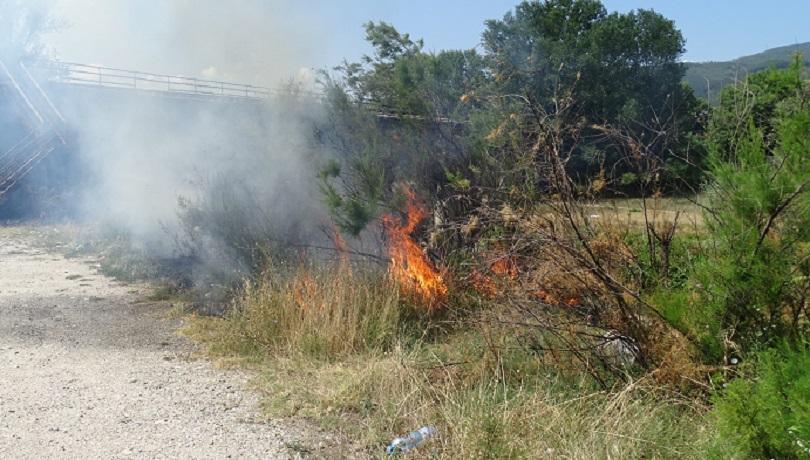 Пожар гори край дупнишкото село Тополница. Малко преди 20 ч