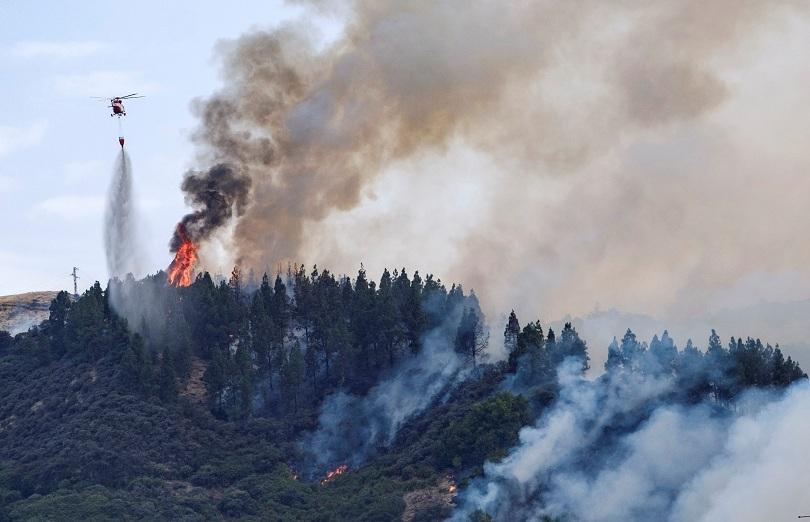 масова евакуация канарските острови заради горски пожар