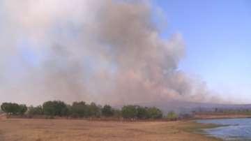 Нов горски пожар пламна край Казанлък