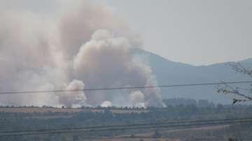 Два пожара горяха край Летище София