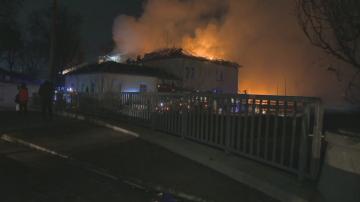 Пожар гори в района на Сточна гара в столицата