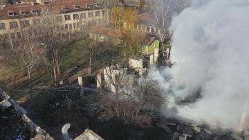 Пожар изпепели поликлиниката на психодиспансера в София, пострадали няма