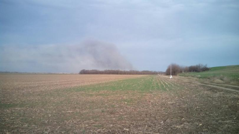 Пожар бушува до защитена местност Калимок – Бръшлен, има съмнения