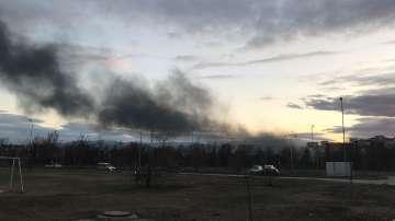 Пожар в производствено хале горя в Пловдив