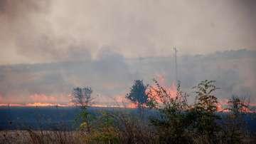 Обявено е частично бедствено положение в община Харманли заради пожар