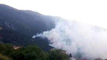 Пожар горя на сметището в Карлово