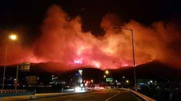Евакуираха над 4000 души заради пожар в Южна Корея
