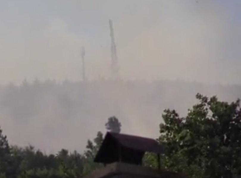 Голям пожар гори в Искърското дефиле между селата Реброво и