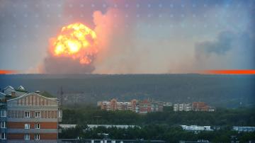 Потушиха пожара във военен склад в Сибир