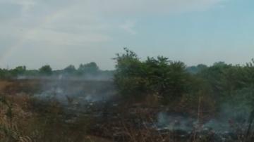 Горя пожар в пловдивския квартал Столипиново