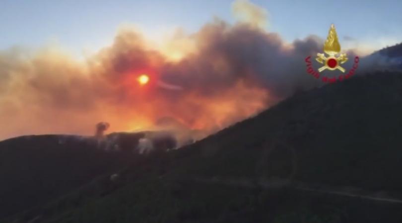 Губренаторът на Тоскана обяви извънредно положение заради пожарите. Стихията наложи