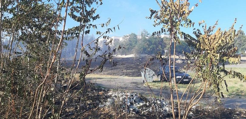 Снимка: Овладян е пожарът до Дома за медико-социални грижи в Стара Загора