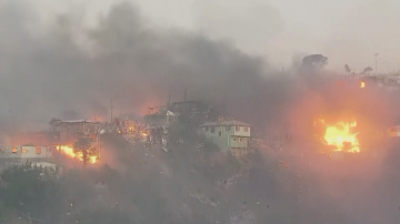 150 къщи в Чили изгоряха при пожар