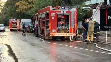 Голям пожар горя в столичен ресторант близо до бул. Черни връх