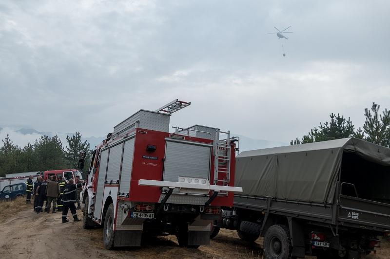Пожарът в района на хипермаркета във варненския квартал