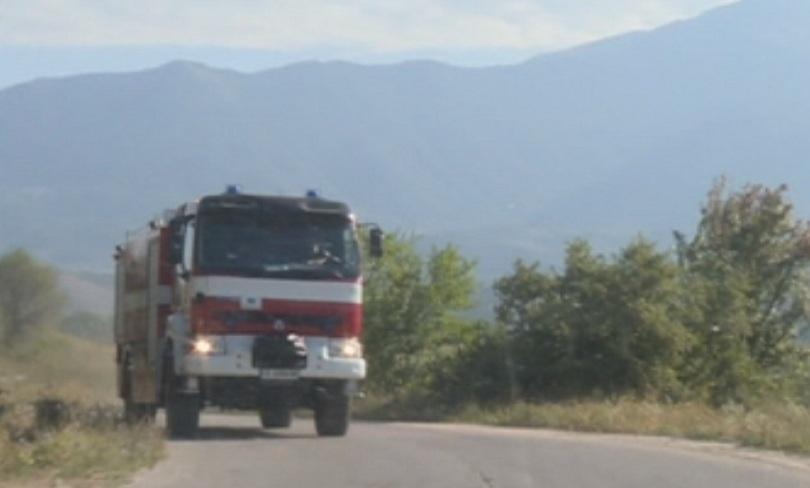 Голям пожар гори край софийското село Реброво, съобщи за