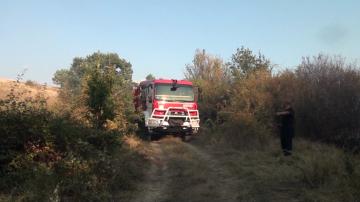 Пожар в депото за отпадъци край пловдивското село Шишманци