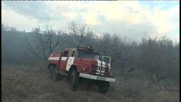 500 декара сухи треви и храсти изгоряха в района на дупнишкото село Блажиево