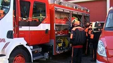 Голям пожар горя близо до болницата в Първомай