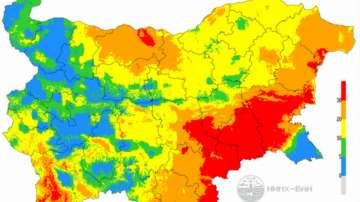 Екстремален индекс за пожароопасност в 9 области на страната за 17 август
