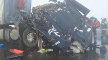 Верижна катастрофа с десетки коли в Полша