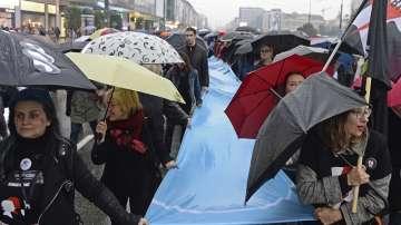 Демонстрация във Варшава в подкрепа на правата на жените