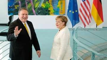 Държавният секретар на САЩ Майк Помпео на посещение в Германия