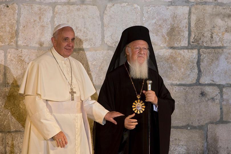 папата вселенският патриарх призоваха избягване екологична катастрофа