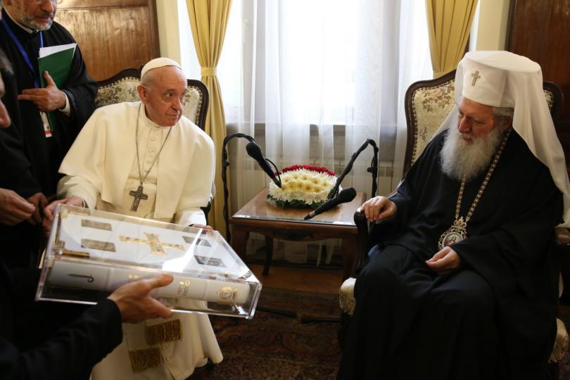 снимка 14 Първият ден от посещението на папа Франциск у нас (СНИМКИ)