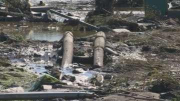 Скъсана дига може да е причината за наводнението в село Черни връх