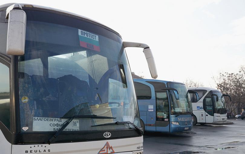 снимка 4 Автобусните превозвачи протестират в над 30 града в страната