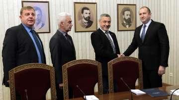 Президентът започна консултации с Обединени патриоти