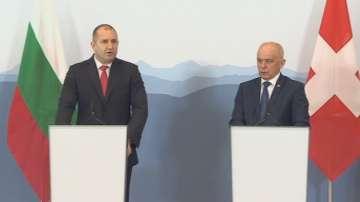 Акцентите от визитата на президента Радев в Швейцария