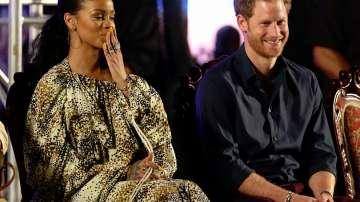 Принц Хари в компанията на Риана на празненствата в Барбадос