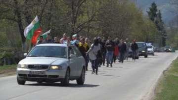 Във Вършец протестираха срещу лошото състояние на пътищата