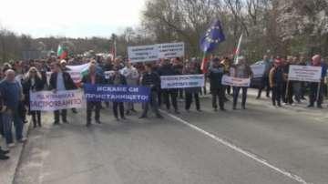 Жители на Царево, Ахтопол и Китен излязоха на протест