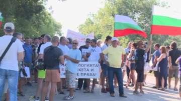 Протест срещу забраната за земеделие край Каварна